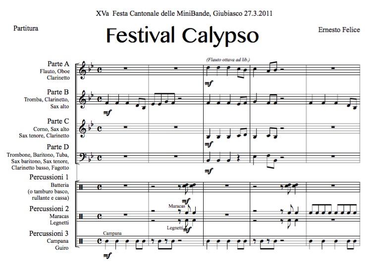 Festival Calypso - Junior Band Flex - Pdf score and parts